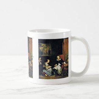 Milton dictó a sus hijas taza básica blanca