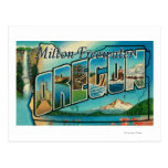 Milton-Freewater, Oregon - escenas grandes de la Postales