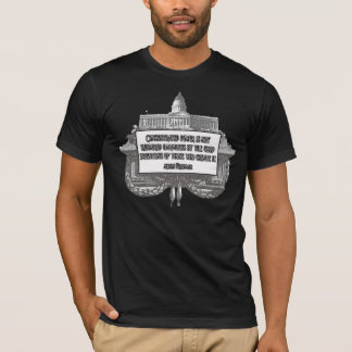 Milton Friedman Quote: Concentrated Power T-Shirt