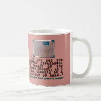 Milton Friedman Quote: Government Efficiency Coffee Mug
