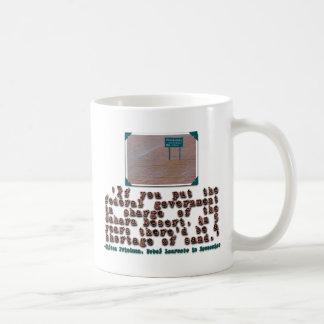Milton Friedman Quote: Government Efficiency Classic White Coffee Mug