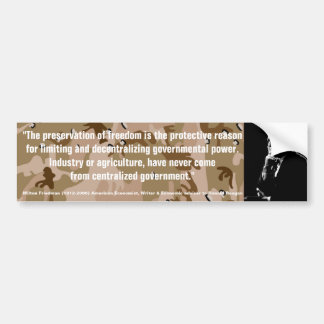 MILTON FRIEDMAN The Preservation of Freedom Bumper Sticker
