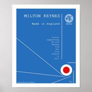 Milton Keynes 2012 city status poster/print Poster