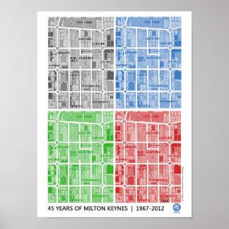 Milton Keynes 45 years of... poster print