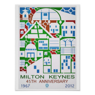 Milton Keynes 45th anniversary poster print