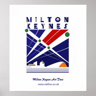 Milton Keynes Art Deco poster art