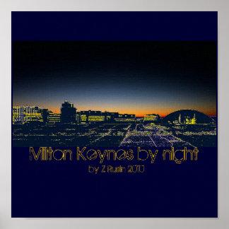 Milton Keynes by night poster