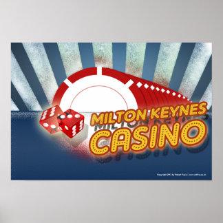 Milton Keynes Casino poster print by Robert Rusin