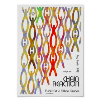 Milton Keynes Chain Reaction Public Art poster
