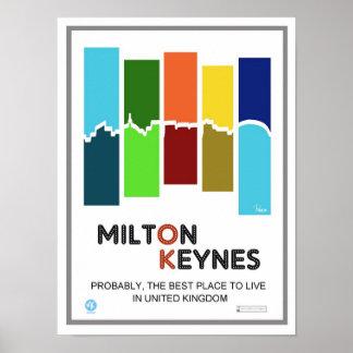 Milton Keynes el mejor lugar a vivir impresión del Póster