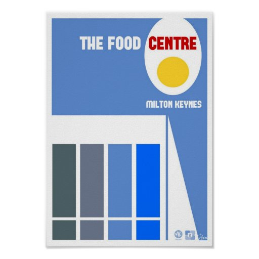 Milton Keynes Food Centre poster print