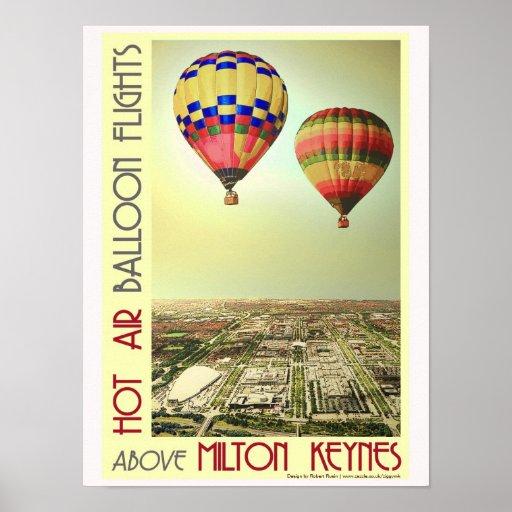 Milton Keynes Hot Air Balloons poster print