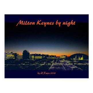 Milton Keynes por la postal de la noche
