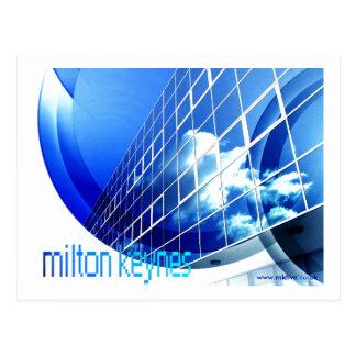 """Milton Keynes postal """"azul"""" feliz"""