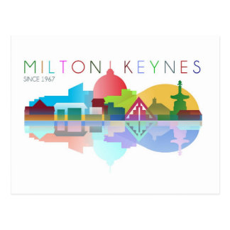 Milton Keynes since 1967 postcard
