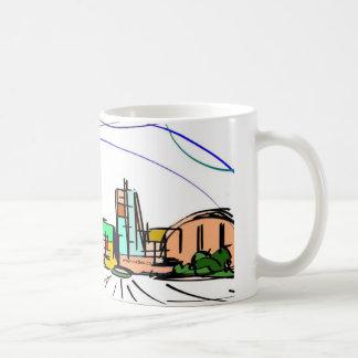 Milton Keynes skyline sketch wrap-around mug
