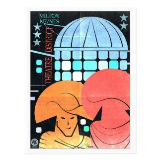Milton Keynes Theatre District artistic postcard
