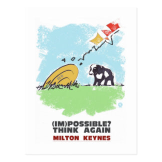 Milton Keynes Think again postcard