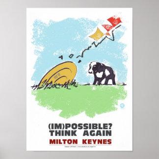 Milton Keynes Think again poster print