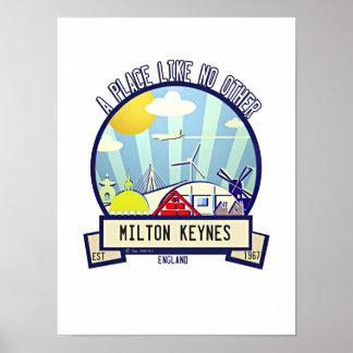 Milton Keynes travel poster by Robert Rusin