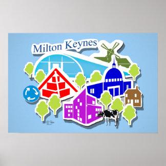Milton Keynes visual poster by Robert Rusin