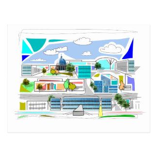 Milton Keynes XIV postcard