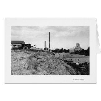 Milton, Oregon View of Town Elevator Photograph Card