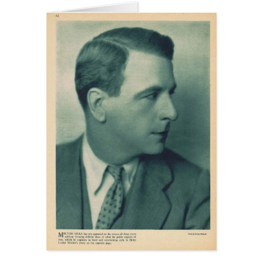 Milton Sillis 1927 vintage portrait Greeting Card