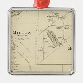 Milton, Strafford Co Adorno Navideño Cuadrado De Metal