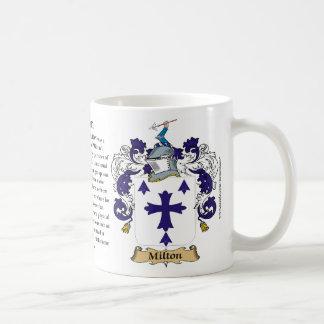 Milton, the Origin, the Meaning and the Crest Classic White Coffee Mug