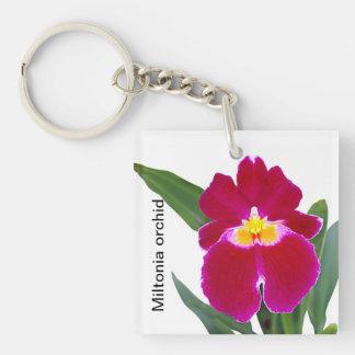 Miltonia orchid key chain