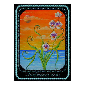 Miltonia Orchid Sunset Poster