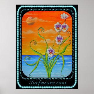 Miltonia Orchid Sunset Print