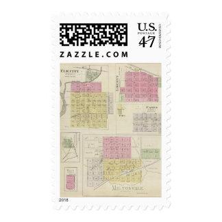 Miltonvale, Elk City, Liberty, Caney, Kansas Postage