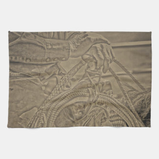 Milts Rope and Saddle Cowboy Kitchen Towel