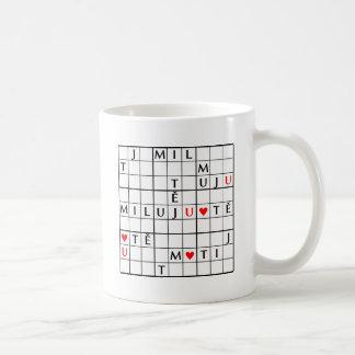 miluju tě coffee mug