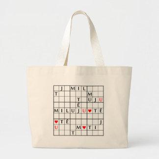 miluju tě large tote bag