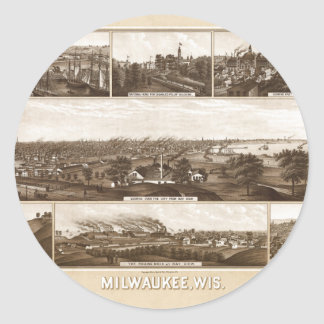 Milwaukee 1882 classic round sticker