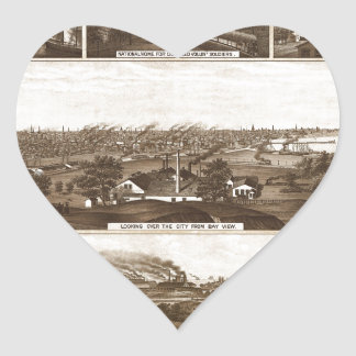 Milwaukee 1882 heart sticker