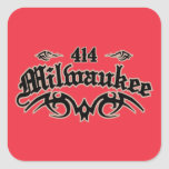 Milwaukee 414 pegatina cuadrada