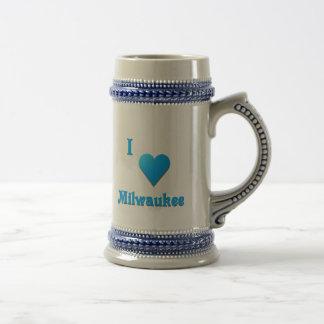 Milwaukee -- Azul de cielo Jarra De Cerveza
