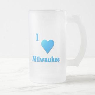 Milwaukee -- Azul de cielo Taza De Cristal