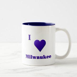 Milwaukee -- Azul de medianoche Taza De Dos Tonos