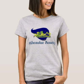 Milwaukee Beauty in Blue, Green, and Yellow T-Shirt