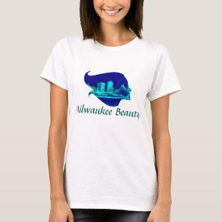 Milwaukee Beauty in Blue T-Shirt