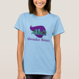 Milwaukee Beauty in Purple, Blue, and Green T-Shirt