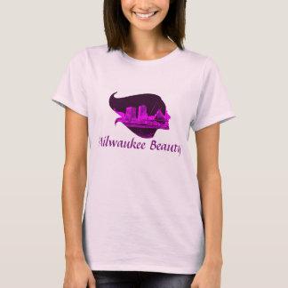 Milwaukee Beauty in Purple T-Shirt