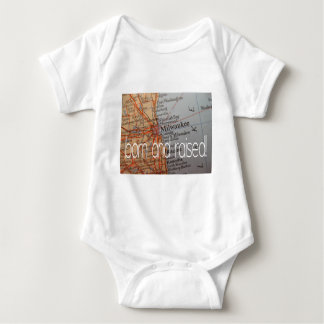 Milwaukee born and raised baby bodysuit