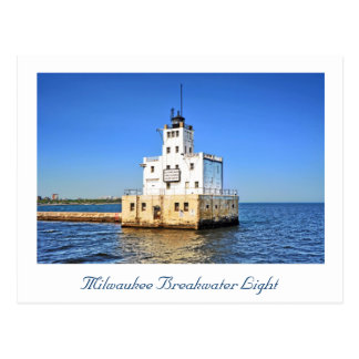 Milwaukee Breakwater Lighthouse Postcard