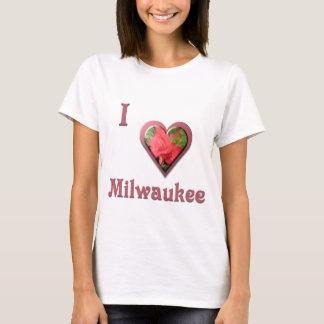 Milwaukee -- con el rosa rojo playera
